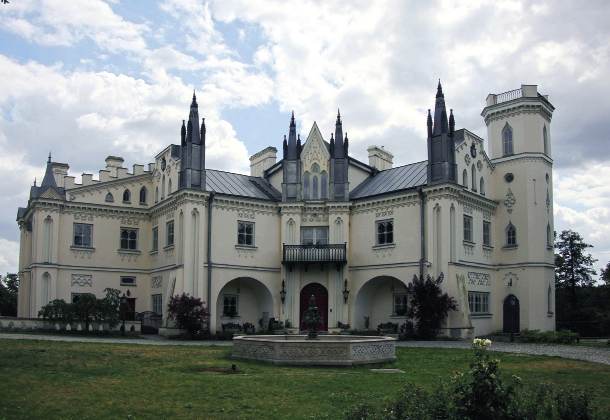 Neogotycki pałac wPatrykozach